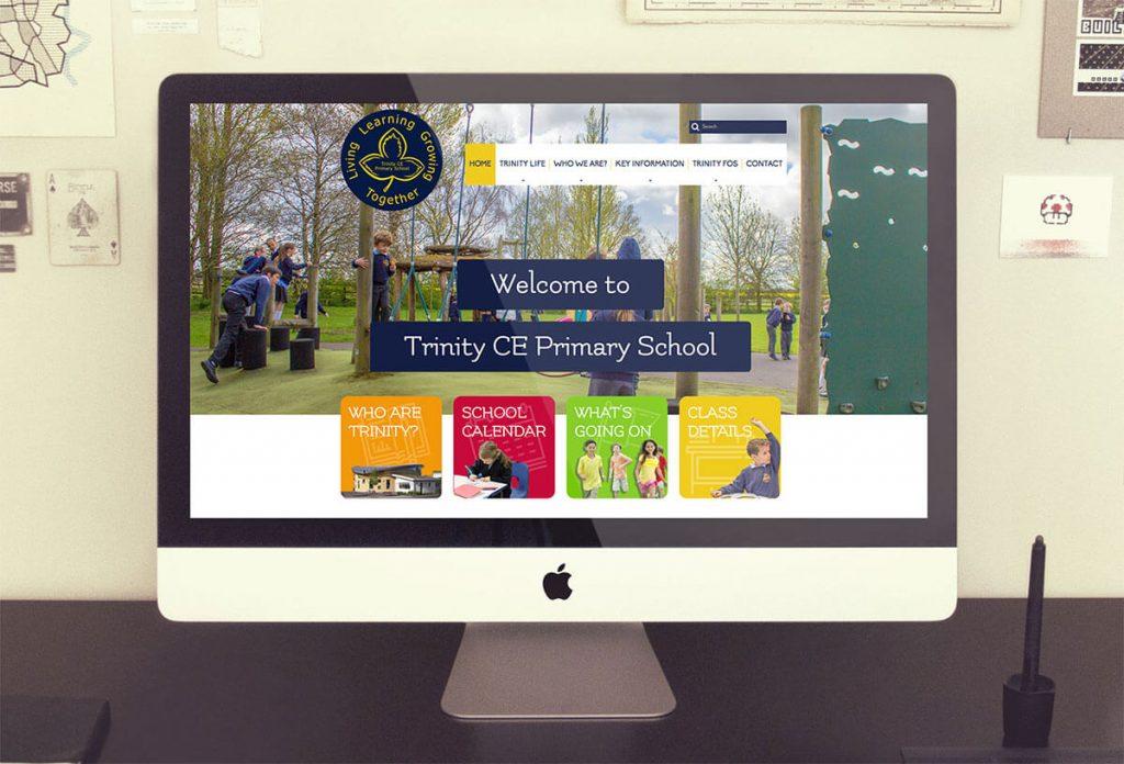 trinity primary school website design