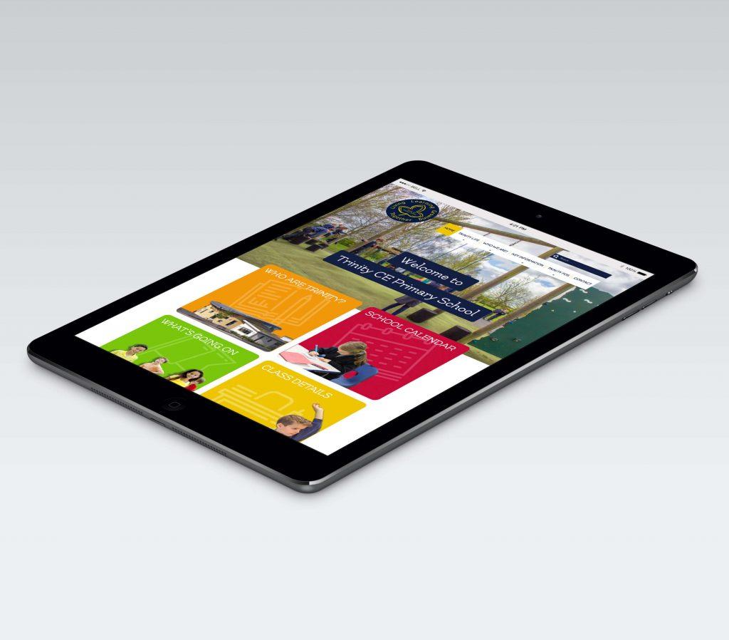 trinity website responsive design