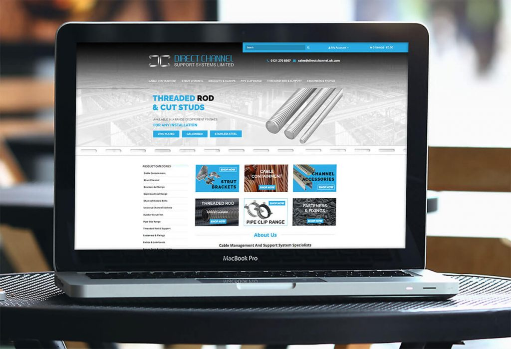 direct channel commerce website design