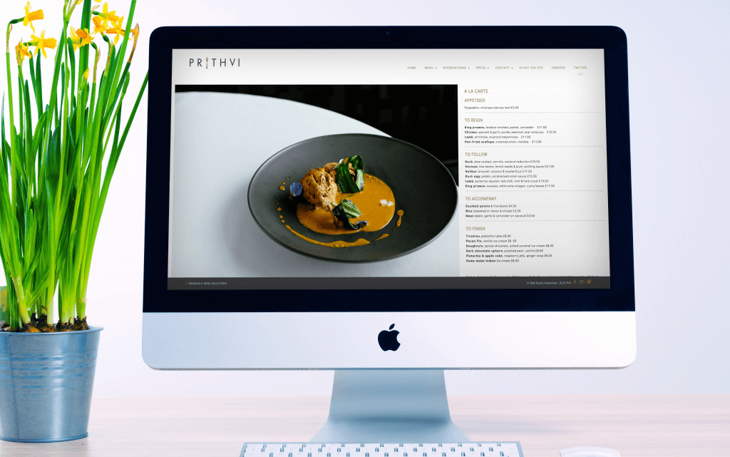 prithvi website design cheltenham